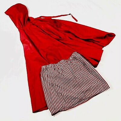 Red Riding Hood Capes (Red Riding Hood Skirt And Hooded Cape High Quality Halloween Costume Size)