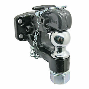Heavy Duty 8 Ton Ball Combo Tow Pintle Hook Hitch Towing For 4x4 Truck Trailer
