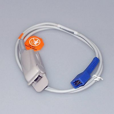 New Nellcor Spo2 Sensor Ds-100a Oximax 9pin 3ft Adult Finger Clip