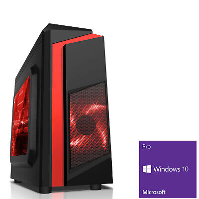 Computer Games - Ultra Fast AMD 9600 Quad Core 8GB DDR4 1TB Gaming PC Computer Windows 10 Pro FR