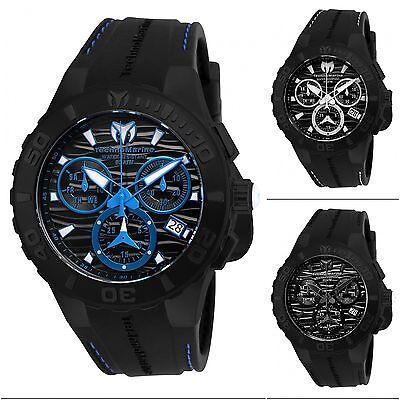 TechnoMarine Men's Cruise Medusa Quartz Black Silicone Band Watch