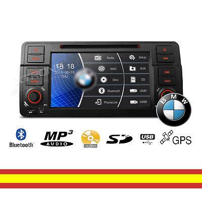 Usado, Radio CD DVD para BMW E46 Car Audio GPS Multimedia Bluetooth Mirroring segunda mano  Valladolid