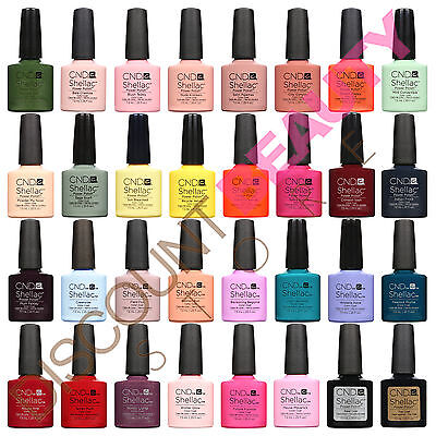 CND Shellac UV Nail Polish Choose from ANY Colours, Base or Top Coat - AUTHENTIC