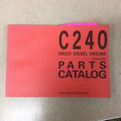 Isuzu C240 Diesel Engine Parts Manual Book Catalog List 4 Cylinder Guide Esp-129