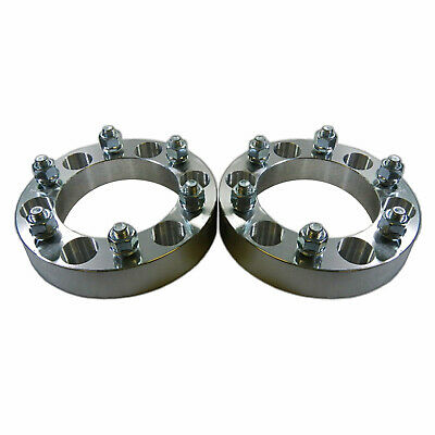 "Pair 6 x 5.5 139.7 Wheel Spacers 12x1.5 1"" fit 4Runner Tacoma Colorado Canyon H3"