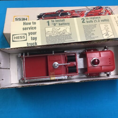 1970 Hess Fire Truck in Box with Card and Inserts