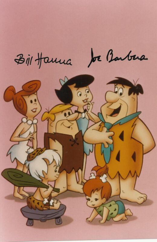 BILL HANNA & JOE BARBERA SIGNED PHOTO IN PERSON COA! FLINSTONES HANNA BARBERA