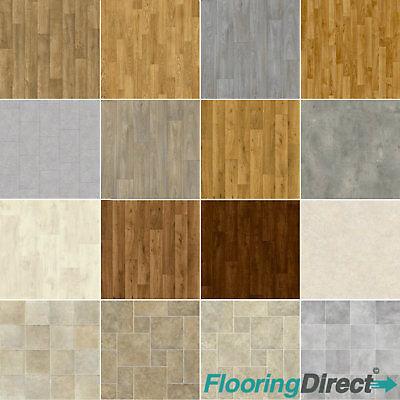 Wood Plank Vinyl Flooring Tile Effect Quality Lino Anti-Slip Kitchen Bathroom