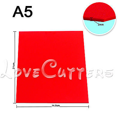 A5 2mm Red Acrylic Plexiglass Sheet For Decal Design 148mm X 210mm 6 X 8 1pc