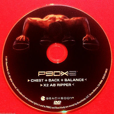 P90X2 - CHEST + BACK + BALANCE +X2 AB RIPPER - BRAND NEW DVD for sale  Shipping to Canada