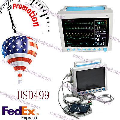 Usa Fedexfda Multiparameter Icu Ccu Patient Monitor Ecgnibpspo2resptemppr