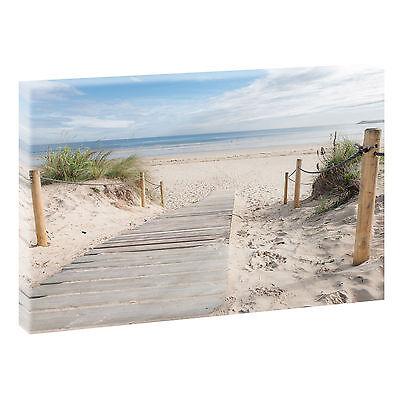 Strand Bild Wandbild  Meer Dünen Nordsee Leinwand  Poster XXL 160 cm*80 cm 624