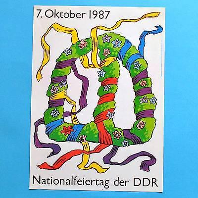 DDR Plakat Poster 256 | Nationalfeiertag 7. Oktober 1987 | 40 x 29 cm Original online kaufen