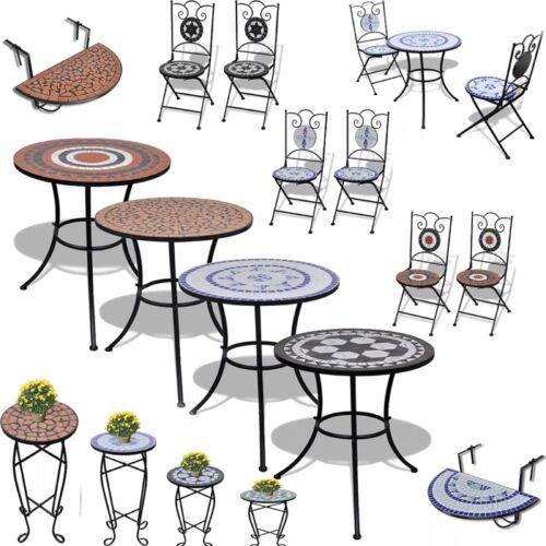 Garden Furniture - 1/2/3 Pcs Outdoor Patio Bistro Set Mosaic Garden Table&Chair Cafe Tea Furniture