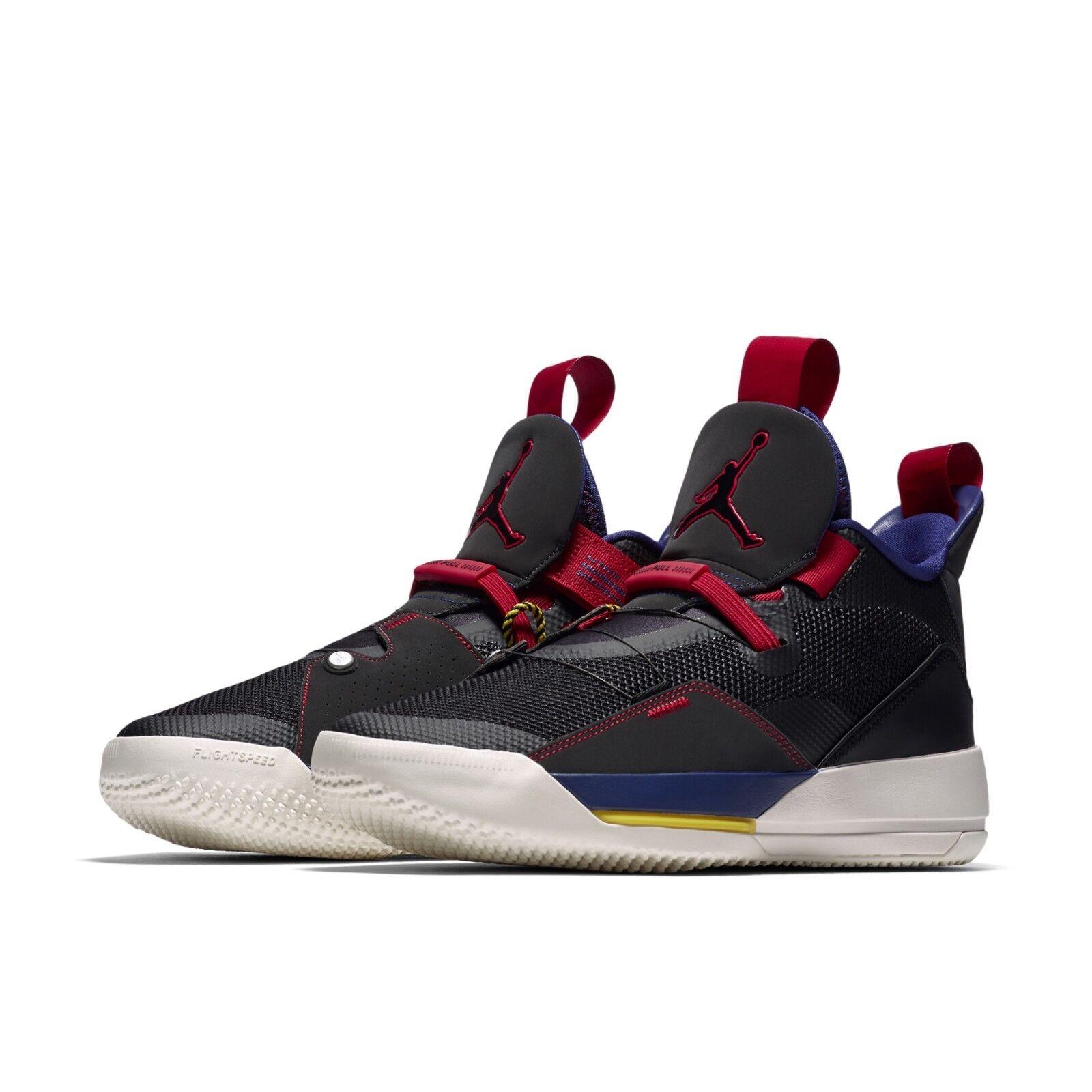 80162bed743 Nike Air Jordan 33 Tech Pack XXXIII Black Dark Smoke Grey Sail AJ33  BV5072-001