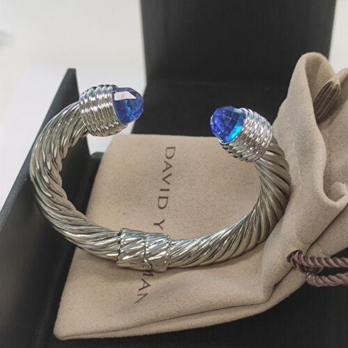 David Yurman Blue Topaz Cable Bracelet 10MM