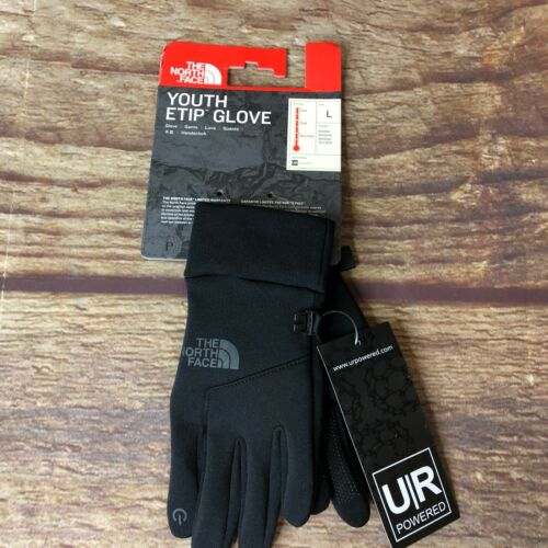 North Face Youth Large Black Etip Glove UR Powered Glove NEW