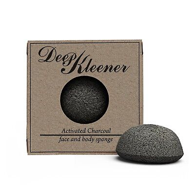 (KONJAC SPONGE All Natural Facial Exfoliating Activated Charcoal 100% organic)