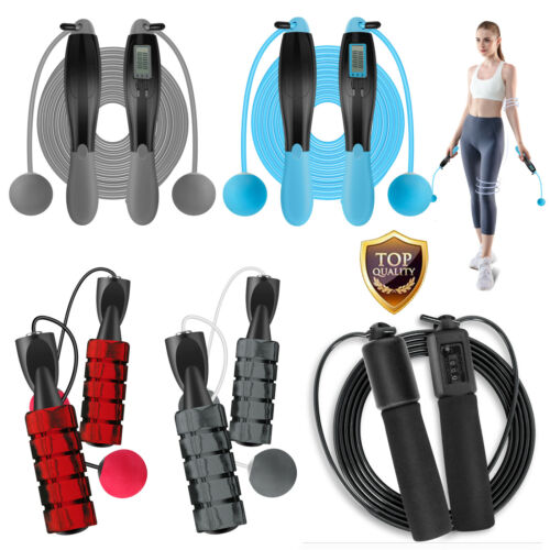 Counter Jump Rope & Ropeless Cordless Jump Rope Wireless Speed Skipping Fitness