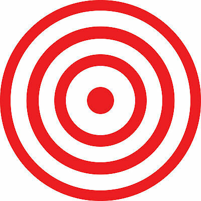 Toilet Targets (2 Toilet Potty Training Bullseye Targets for Men and Boys Vinyl Decal Sticker )