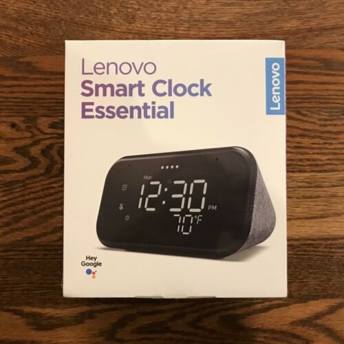 Brand New & Sealed Lenovo Smart Clock Essential, Soft Touch Gray