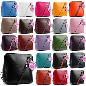 Vera-Pelle-Genuine-Italian-Leather-Little-Mini-Shoulder-Handbag-Italy-Bag