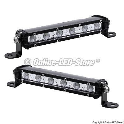2pc OLS 7 Inch 18W Off Road LED Work Driving Flood Light Bar Jeep Truck 4WD ATV