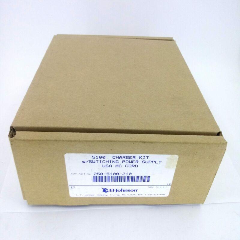 Original EFJohnson Single Unit Battery Charger Kit 585-5100-210 w/ Power Supply