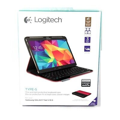 LOGITECH CASE KEYBOARD FOR GALAXY TAB S 10.5 TYPE-S BLUETOOTH RED NEW