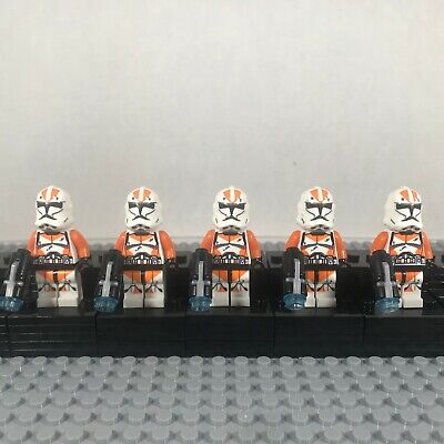 Lego Star Wars Compatible 5 Clone Trooper 212th Battalion Minifigure Lot Set