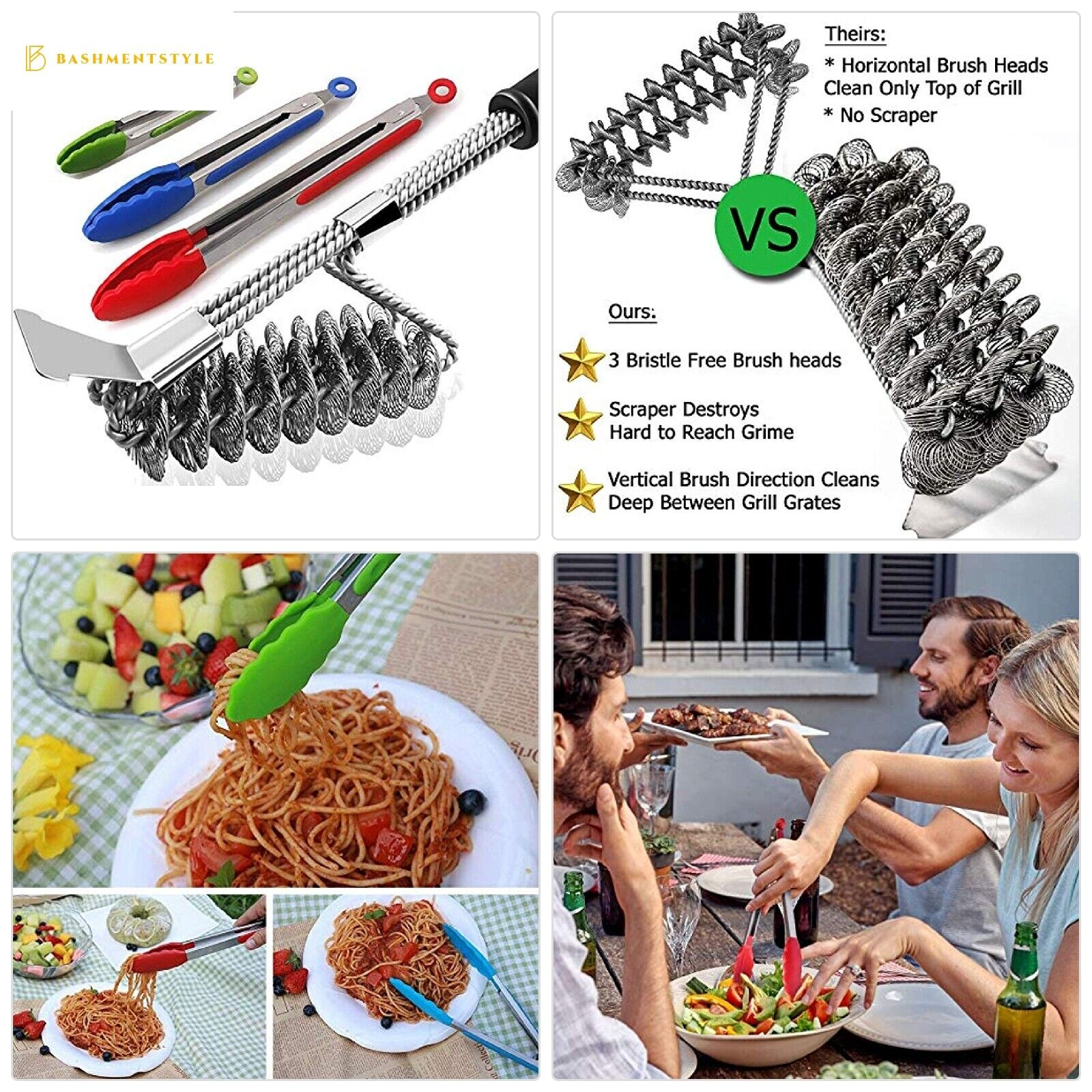 Hokichen BBQ Grill Brush and Scraper Best Rated, Safe Barbec