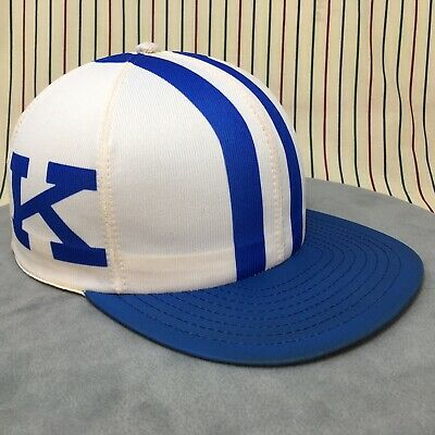 303 Vtg Kentucky Wildcats Snapback HELMET Hat LOUISVILLE MFG Cap NCAA Basketball