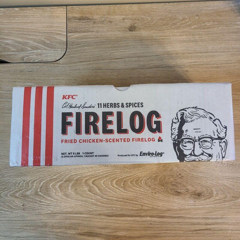 KFC FIRE LOG 11 HERBS & SPICES ENVIROLOG KENTUCKY FRIED CHICKEN FIRE LOG
