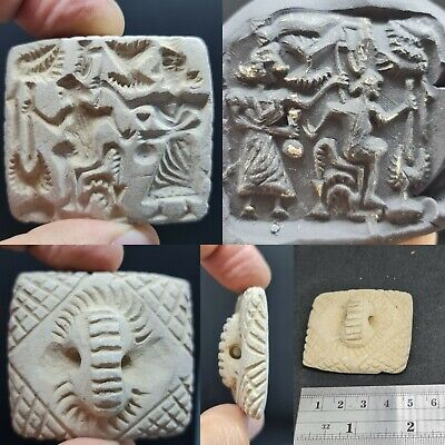 Sassanian ancient unique royal seal intaglio stone stamp #146