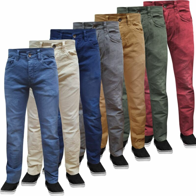 Mens Jack South Chino Jeans Straight Leg Slim Fit Stretch Casual Trousers Pants