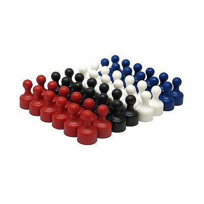 48 Plastic Assorted Color Small Magnetic Push Pins Strong Neodymium Magnets