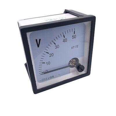 Us Stock Dc 050v Square Analog Volt Pointer Needle Panel Meter Voltmeter Xt-72