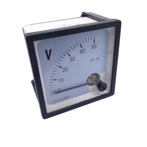 US Stock DC 0~50V Square Analog Volt Pointer Needle Panel Meter Voltmeter XT-72