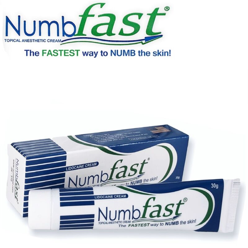 30g Tube NUMB FAST Numbing Cream Painless Tattooing Piercing Waxing Laser Dr