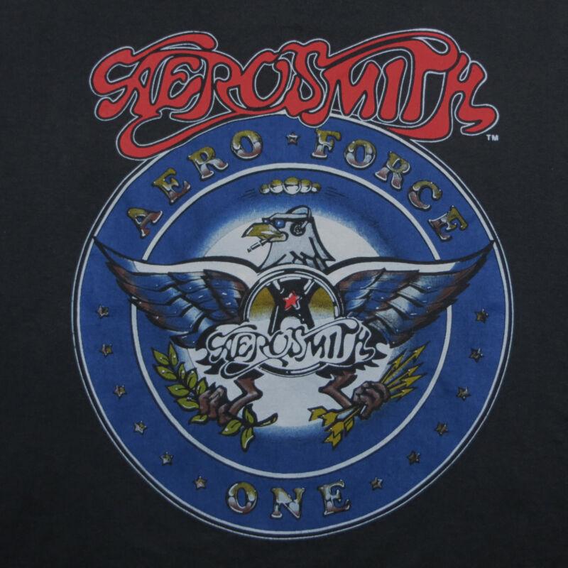 Vtg 1987 Aerosmith Aero Force One Tour Concert TShirt XL Shirt
