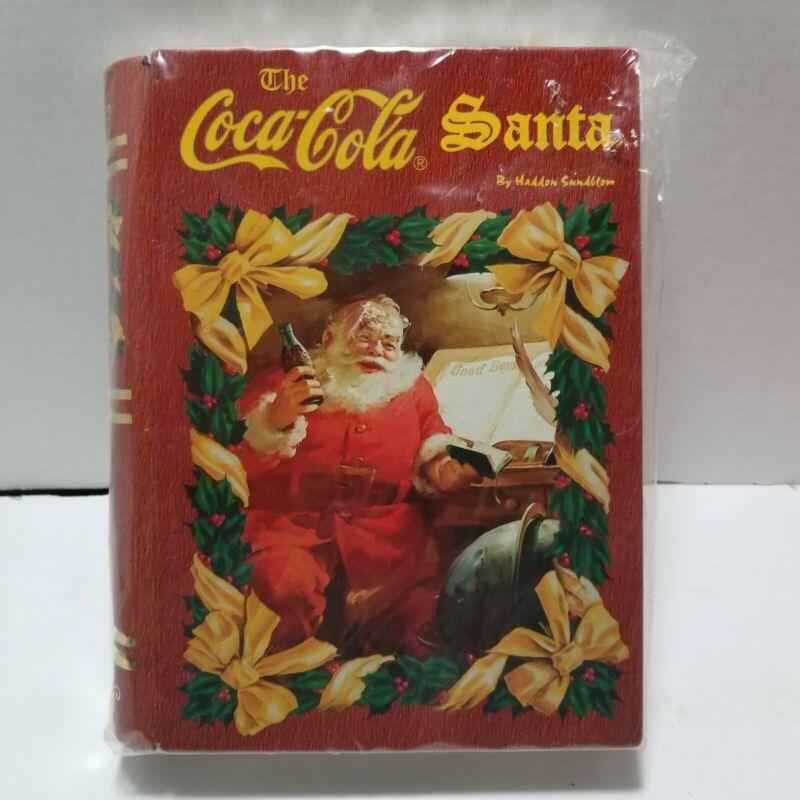 Coca-Cola Santa Haddon Sundblom Holiday Tin Book Safe Stash Box
