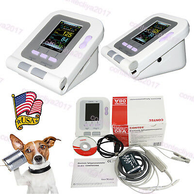 New Fda Digital Veterinary Blood Pressure Monitor Contec08a Vet Nibpspo2 Probe