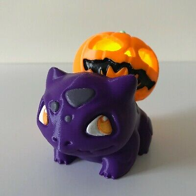 Bulbasaur Twinkling Light-Up Halloween Spooky Pumpkin Pokemon Figurine