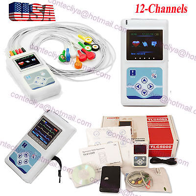 Usa 12 Channel Ecg Holter Ecg 24 Hours Holter Ekg Monitor Softwaretlc5000 Ce