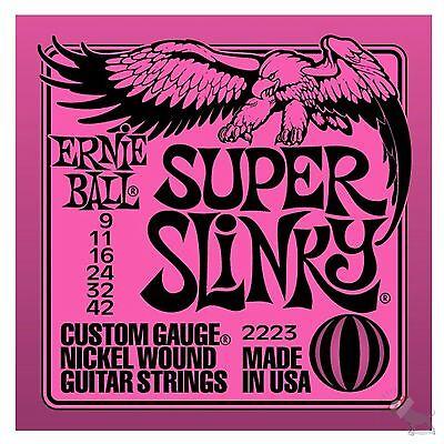Ernie Ball 2223 Nickel Super Slinky Custom Gauge Electric Guitar Strings (9-42)