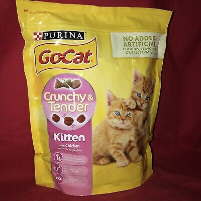 Go Cat Dry Kitten Food Chicken GROWTH SUPPORT 800g Heathy Bone Muscle Teeth Gum