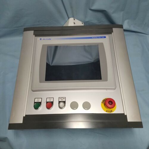 Panelview Plus 1250 With Color Touch Module Mounted In Pendant Case.
