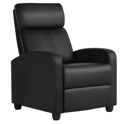 recliner chair pu leather modern single reclining