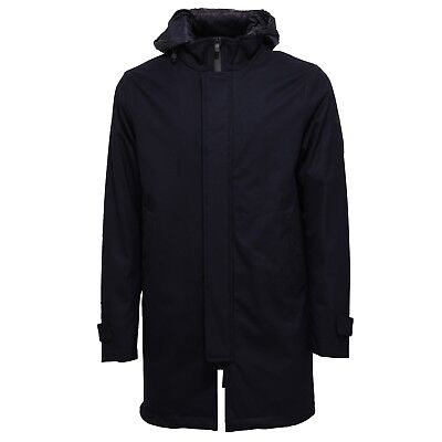 6513X trench uomo AT.P.CO BILL wool cappotto blue jacket men