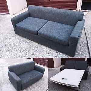 Ex-hotel used 2.5 seater sofa bed + 2 seater executive sofa set Blacktown Blacktown Area Preview